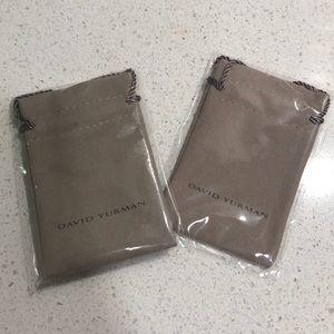 2 david Yurman travel pouches